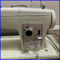 VTG Sears Kenmore Sewing Machine MODEL 2142 with Carrying Case (Tested & Works)