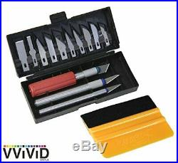 VViViD Multi-Blade Hobby And Craft Knife Bundle WithHard Carrying Case & Yellow#36