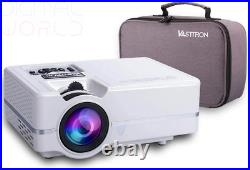 Vasttron Home Video Projector with Carrying Case and Tripod, 3200 Lux LED