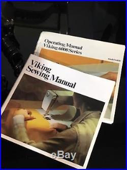 Viking Husqvarna 64 30 Model SEWING MACHINE Foot Pedal & Carrying Case + More