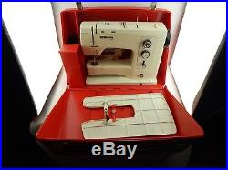 Vintage 1970's Bernina 830 Record Sewing Machine & Hard Carry Case WORKS GREAT