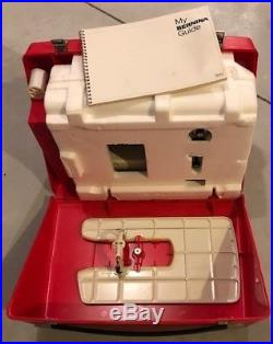 Vintage 1970's Bernina 830 Record Sewing Machine With Carry Case & Accecessories