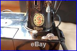 Vintage 222K Singer Featherweight Sewing Machine, Carry Case & Accessories