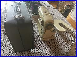 Vintage Bernina 730 Record Sewing Machine With Owner's Manual And Carry Case