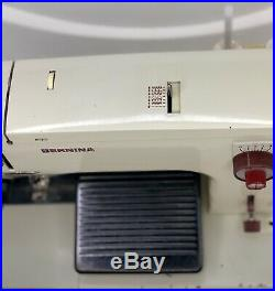 Vintage Bernina 817 Portable Swiss Made Sewing Machine With Hard Carry Case