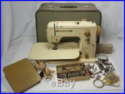 Vintage Bernina Minimatic 707 Sewing Machine Carrying Case extras Parts Repair