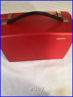 Vintage Bernina Sewing Machine 830 Hard Shell Red Carrying Case Only Clean