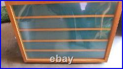Vintage Card Trade Show Display Case Wood Construction Bi-Fold Carry Handle