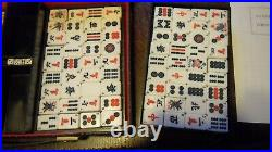 Vintage Chinese Mah-jongg Set, Mahjong in Carry Case, Dragon Trade Mark