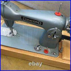 Vintage Concord Manual Sewing Machine With Carry Case & Instruction Manual
