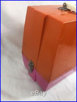 Vintage Electric JCPenney Sewing Machine With Carrying Case Pink