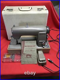 Vintage Kenmore Rotary Sewing Machine With Original Carry Case