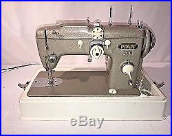 Vintage Pfaff 230 Sewing Machine With Replacement Carrying Case Fully Working