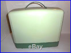 Vintage SINGER SEWING MACHINE RFJ8-8 With CARRYING CASE Jadeite Green