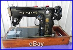 Vintage Singer 306K Automatic Sewing Machine with Carry Case Zig Zag Straight