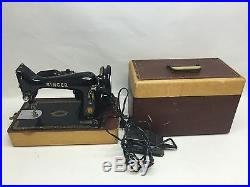 Vintage Singer 99K Sewing Machine with Pedal Light Carry Case