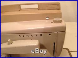 Vintage Singer Fashion Mate Model 237 Sewing Machine Zig Zag Carrying Case Works