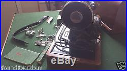 Vintage Singer Sewing Machine Model 99-13 with Knee Bar & Dome Carrying Case