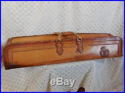 Vintage Tooled Leather Zippered Architect Carrying Case Custom Crafted XTRLong