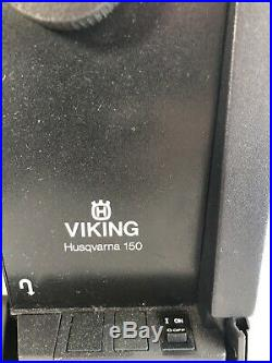 Vintage Viking 150 HUSQVARNA Sewing Machine with Pedal and Carrying Case Tested