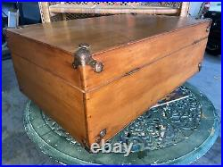 Vintage Wooden Suit Case Or Carry Box. Hand Made And Nicely Crafted
