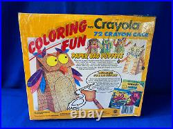 Vintage1990 Crayola 72 Crayon Case Storage Carrying New with sissors