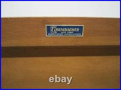 Vtg Grumbacher Art Supplies Wood Carrying Case Oil Watercolor Paint Brushes Book