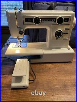 Vtg Kenmore Sears Sewing Machine Model 385.12490 10 Stitch Carrying Case