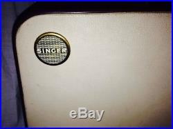 Vtg Singer 403 Special Slant Sewing Machine Wood Carry PORTABLE CASE