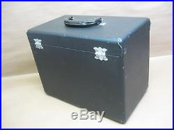 Vtg Singer Featherweight 221 Sewing Machine Carry Case Only with Key & Acc. Holder