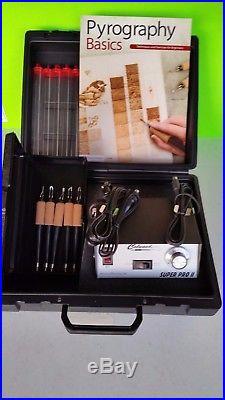 Woodburner -Colwood SuperPro II or Detailer & 5 pens & Plastic Case & Book