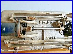 Working Pfaff 30 Upholstery Semi Industrial Electric Sewing Machine Carry Case