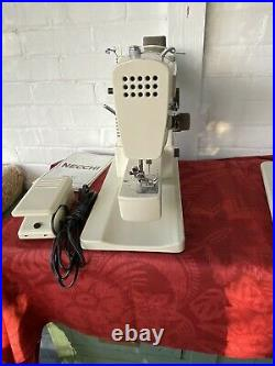 Working Vintage Necchi 543 Sewing Machine W Manual, Carrying Case, Accessories