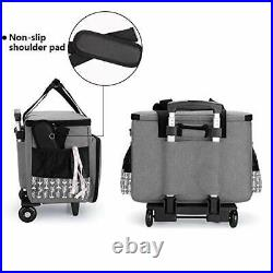 Yarwo Detachable Rolling Sewing Machine Carrying Case Trolley Tote Bag with R