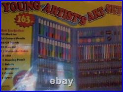 Young Artists Art Set 163 Pieces Convenient Carrying Case AC Moore Drawing Craft